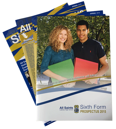 All Saints brochures from Pickards Design and Print